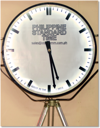 Analog Philippine Standard Time Clock 1