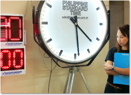 Analog Philippine Standard Time Clock 2